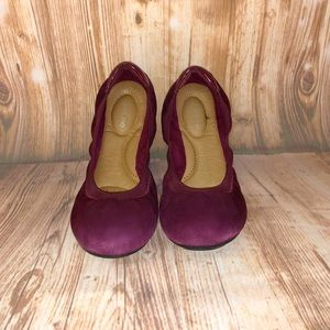 Lands End Suede Ballet Flats